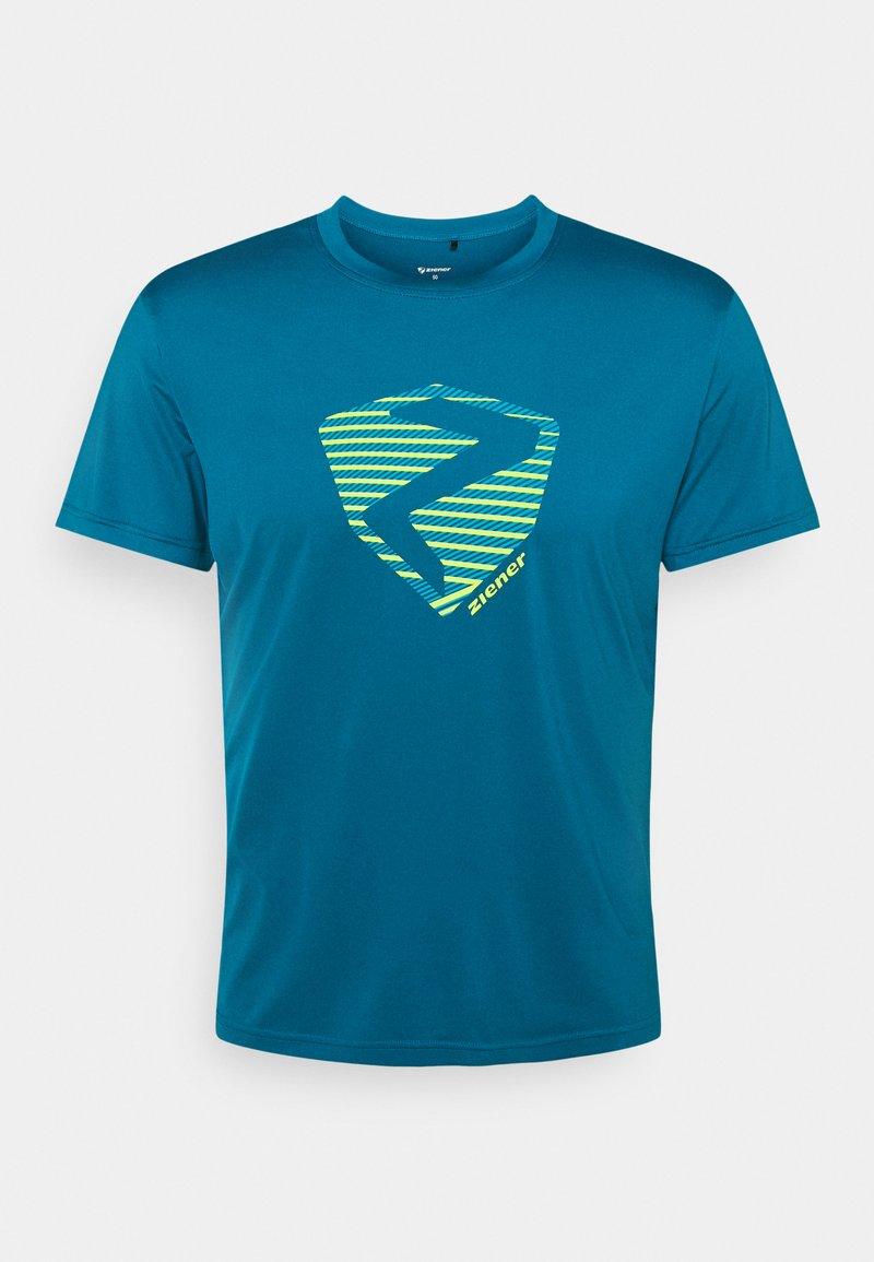 Ziener - NOLAF MAN - T-shirt imprimé - crystal blue
