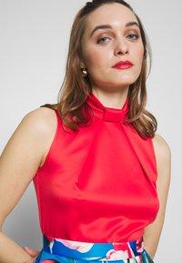 Closet - COLLAR FULL SKIRT DRESS - Vestito elegante - red - 3