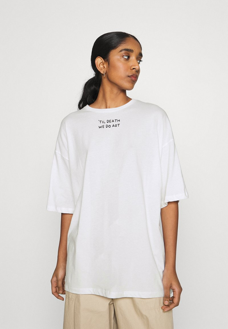 Even&Odd - T-shirts med print - off-white