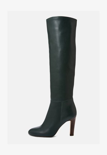AGNA - Boots med høye hæler - dark green
