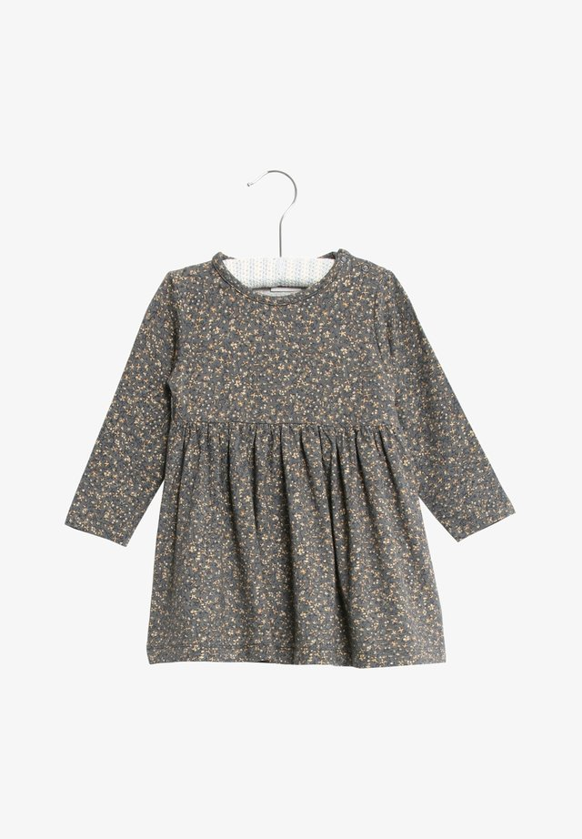 Day dress - greyblue flowers