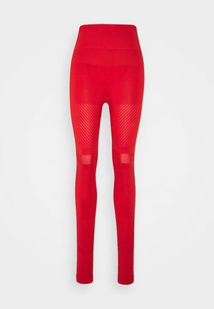 SEAMLESS BLOCKED - Collant - impact red