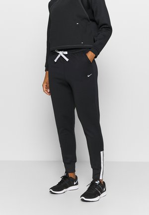 PANT ZIP TAPE - Tracksuit bottoms - black/white