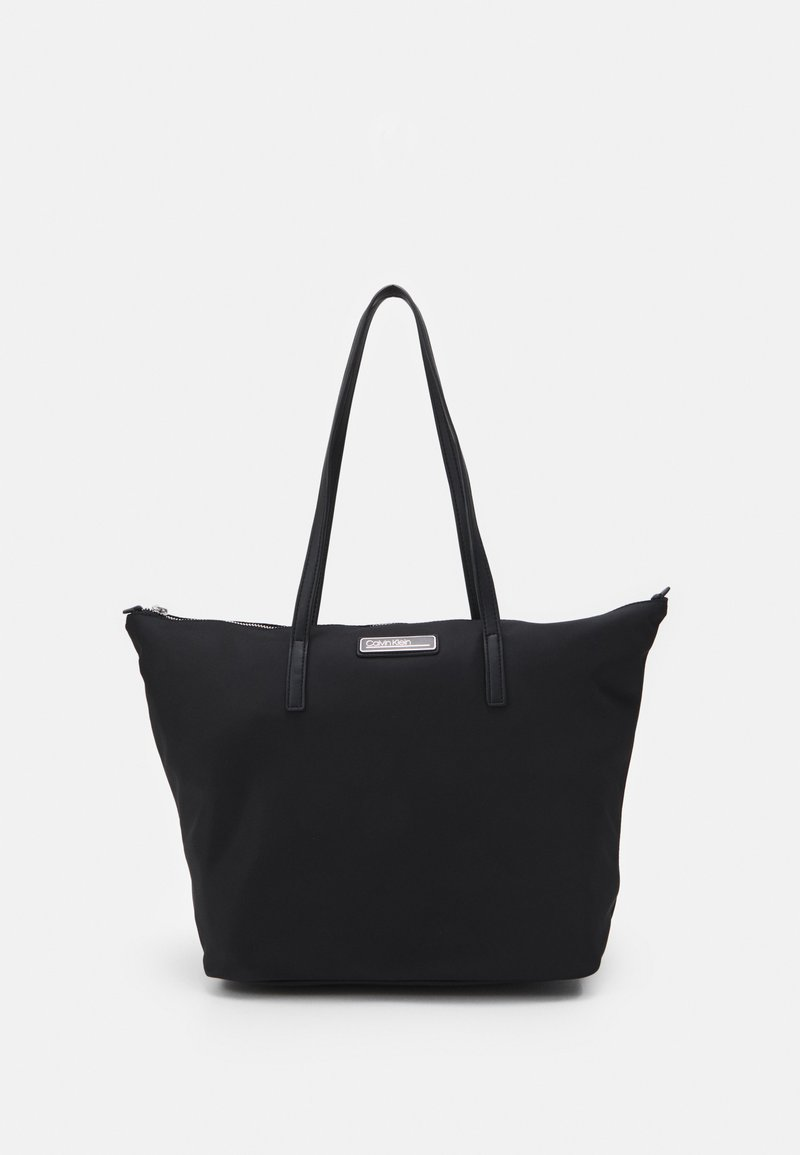 Calvin Klein - SHOPPER ZIP - Kabelka - black