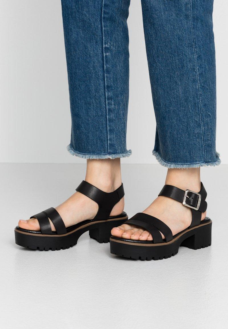 mtng - PLEXY - Sandály na platformě - black
