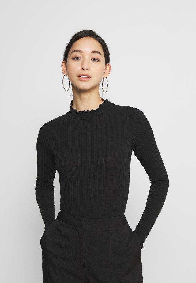 TURTLE NECK BODY - Long sleeved top - black