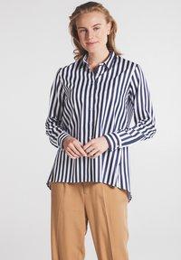 Eterna - Button-down blouse - marine weiß - 0