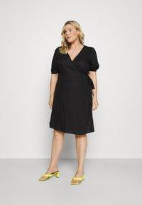 ONLY Carmakoma - CARMILLE LIFE DRESS - Day dress - black - 0