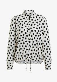 Oui - Button-down blouse - offwhite black - 6