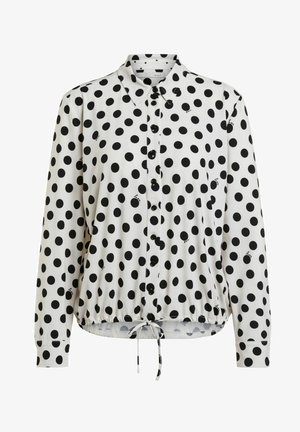 Button-down blouse - offwhite black