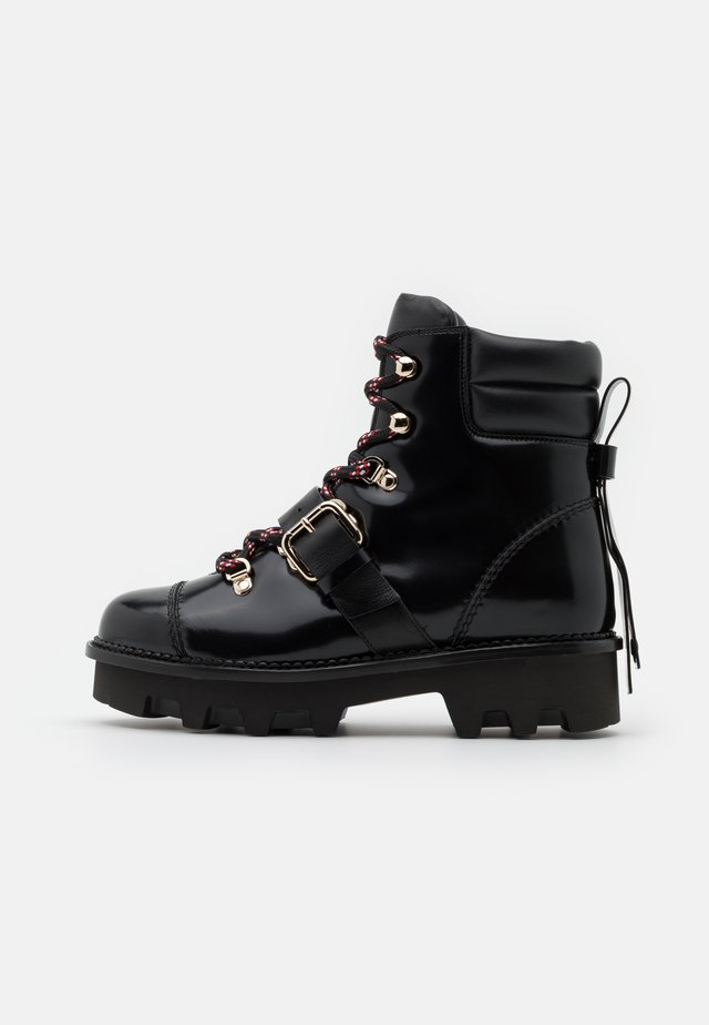 COMBAT BOOT - Platform ankle boots - nero