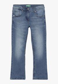 Benetton - TROUSERS - Bootcut jeans - light-blue denim - 0