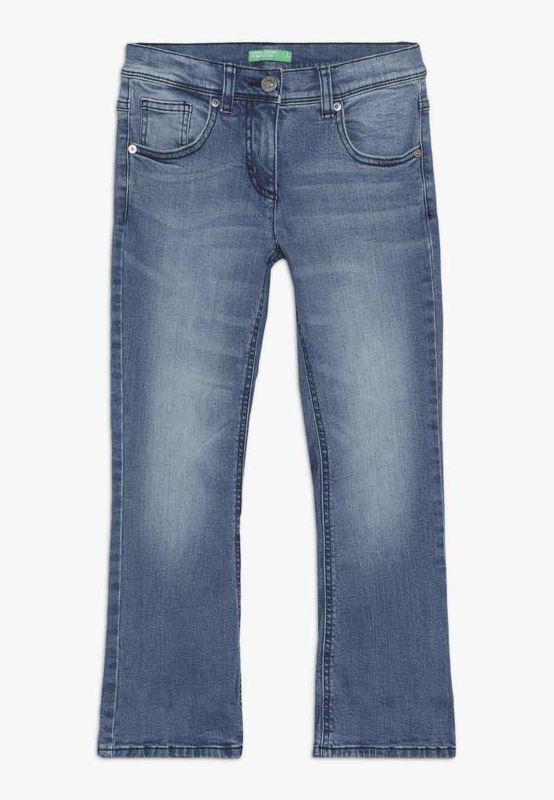 Benetton - TROUSERS - Bootcut jeans - light-blue denim