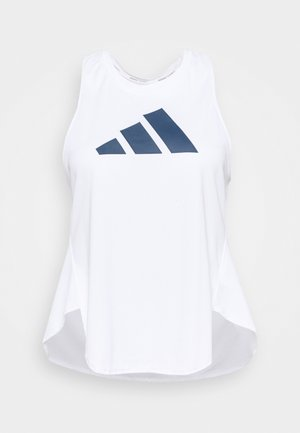 3 BAR LOGO TANK TOP (PLUS SIZE) - Sports shirt - white/crew red/crew navy