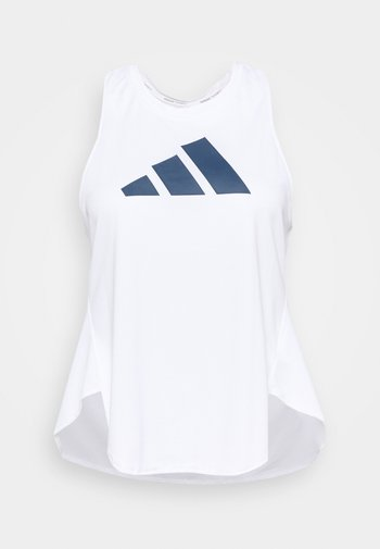 3 BAR LOGO TANK TOP (PLUS SIZE) - T-shirt de sport - white/crew red/crew navy