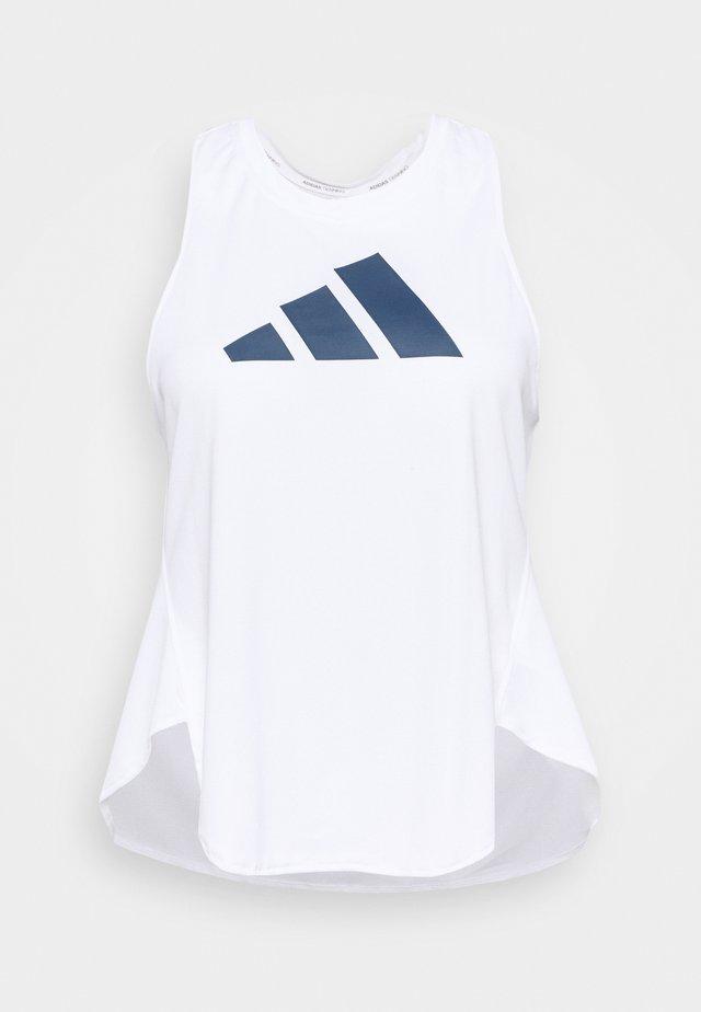 3 BAR LOGO TANK TOP (PLUS SIZE) - Sports shirt - white/crew red/crew navy