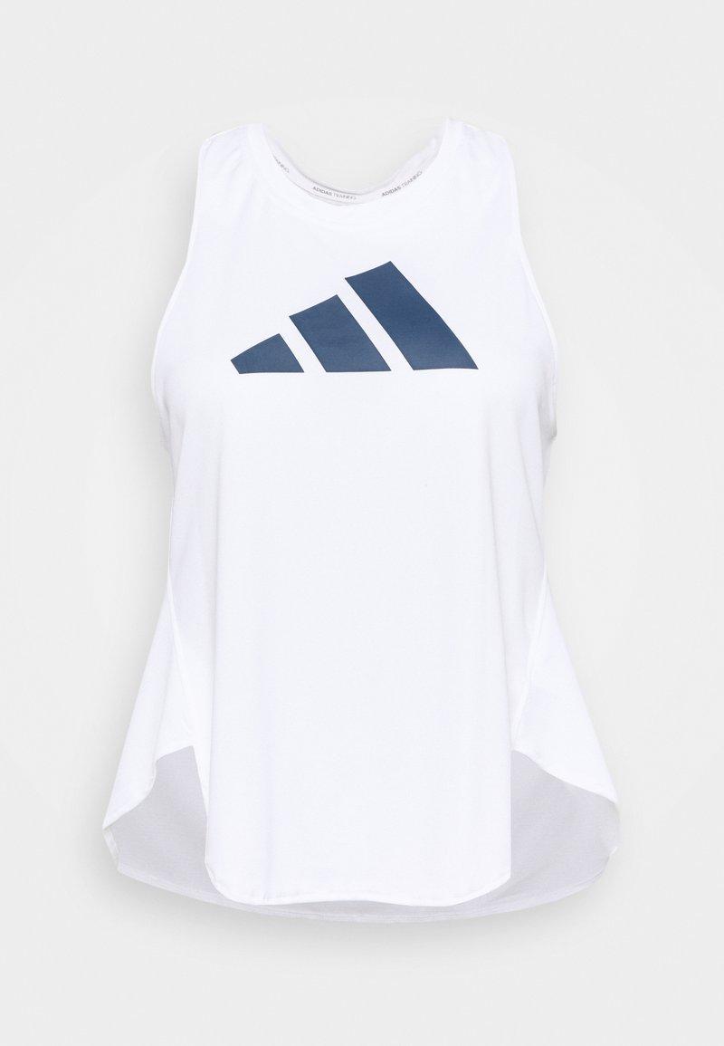 adidas Performance - 3 BAR LOGO TANK TOP (PLUS SIZE) - Camiseta de deporte - white/crew red/crew navy