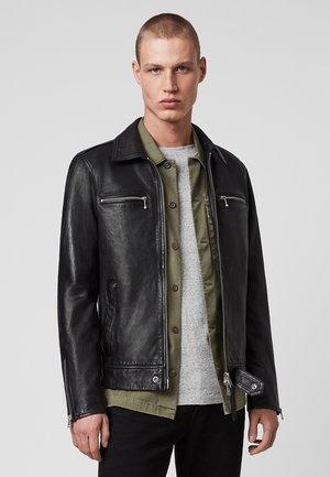 MAYA  - Leather jacket - black