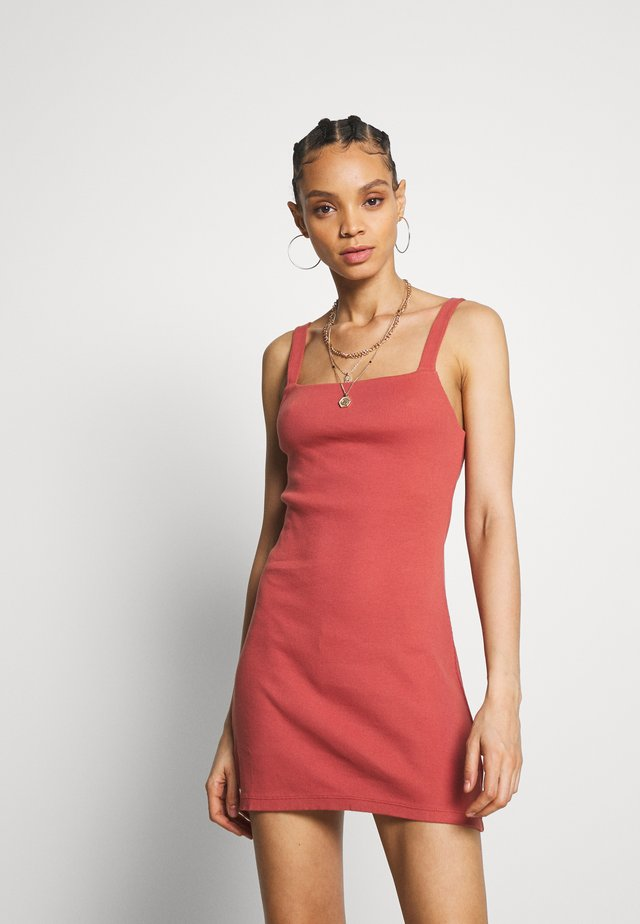 HELENA - Korte jurk - brick