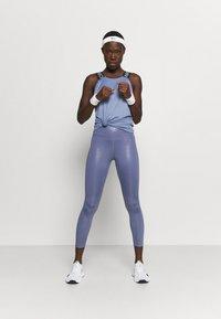 Nike Performance - DRY ELASTIKA TANK - Sports shirt - world indigo/black - 1
