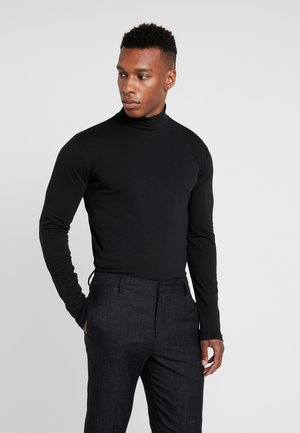 TURTLE NECK TEE - Long sleeved top - black