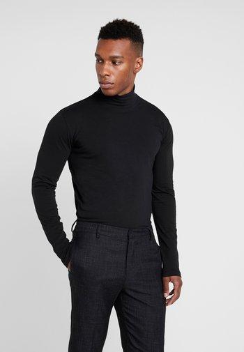TURTLE NECK TEE - Maglietta a manica lunga - black