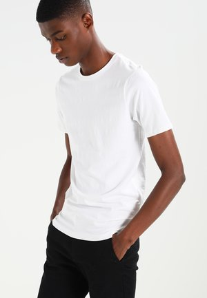 ONSBASIC O-NECK SLIM FIT - T-shirt - bas - white