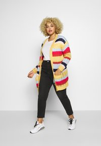 ONLY Carmakoma - CARMETA LONG - Cardigan - hot sauce/multicolour stripe - 1