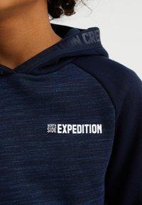 WE Fashion - MET GEMÊLEERDE BODY - Hoodie - dark blue - 2