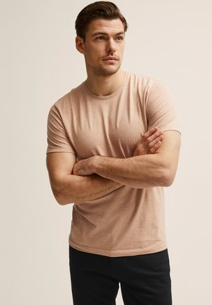 T-shirt - bas - pink melange