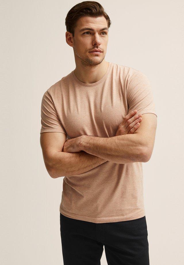 T-shirt basic - pink melange