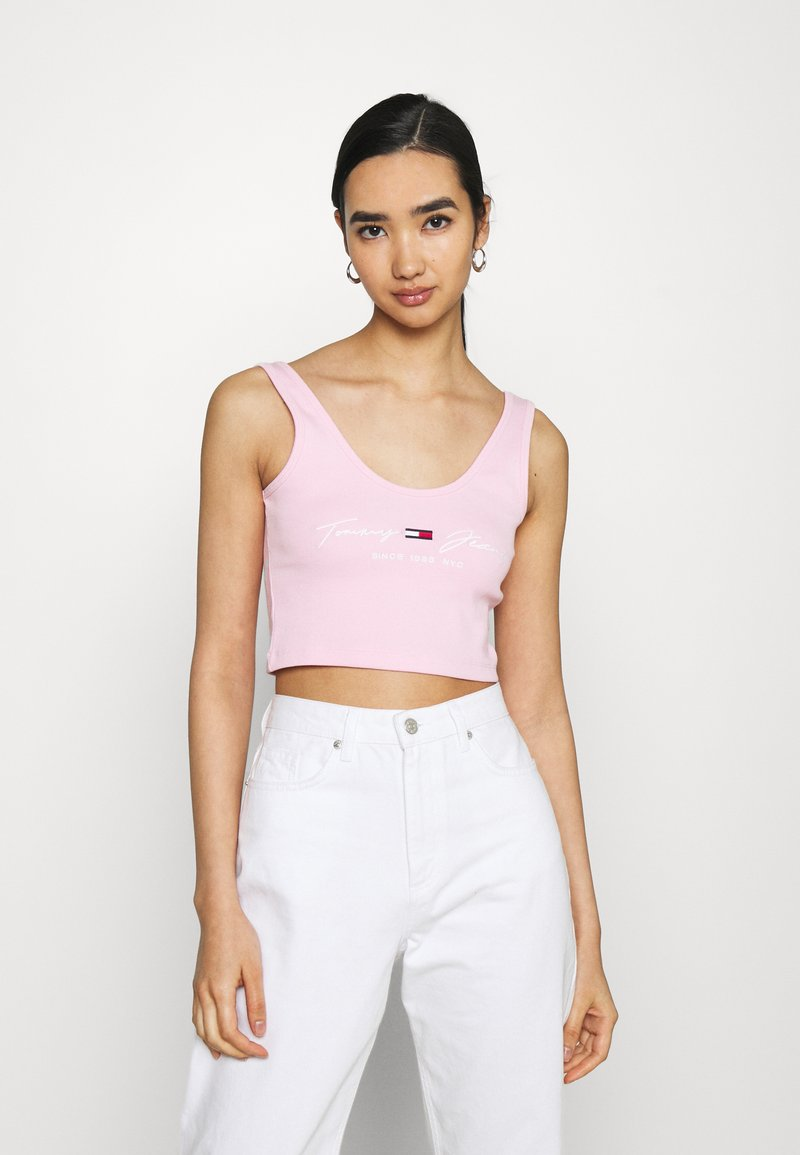 Tommy Jeans - CROP  - Top - romantic pink