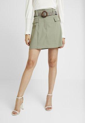 BETRIE BELTED - A-line skirt - khaki