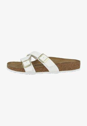 YAO BALANCE BIRKO-FLOR LACK NORMAL - Slippers - patent white