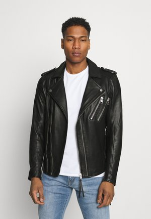 AKONO - Leather jacket - black