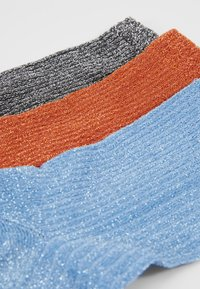 Becksöndergaard - DINA 3 PACK - Sokken - russet orange/light blue/silver - 2