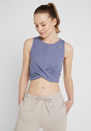 STUDIO NOVELTY YOGA CROP TOP - Top - blue