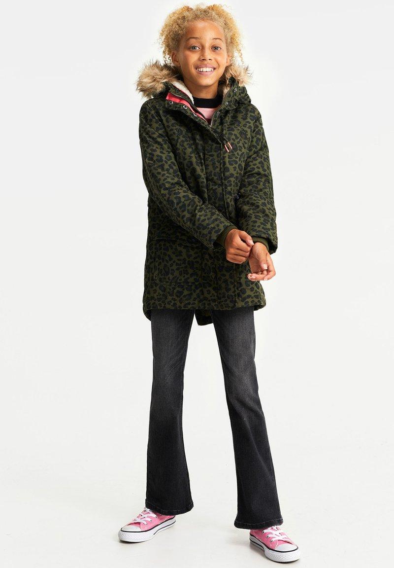 WE Fashion - MEISJES WATERAFSTOTENDE MET - Parka - army green