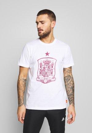 FEF SPANIEN DNA GR TEE - Print T-shirt - white