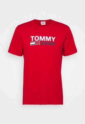 CORP LOGO TEE - T-shirt con stampa - red