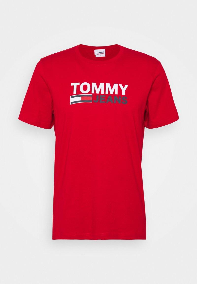 Tommy Jeans - CORP LOGO TEE - Triko spotiskem - red