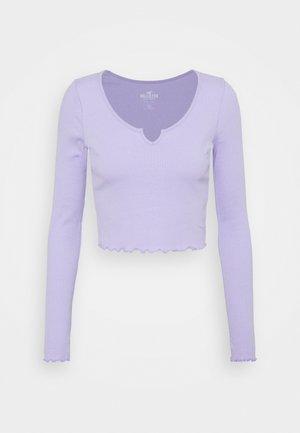 NOTCH NECK - Topper langermet - purple