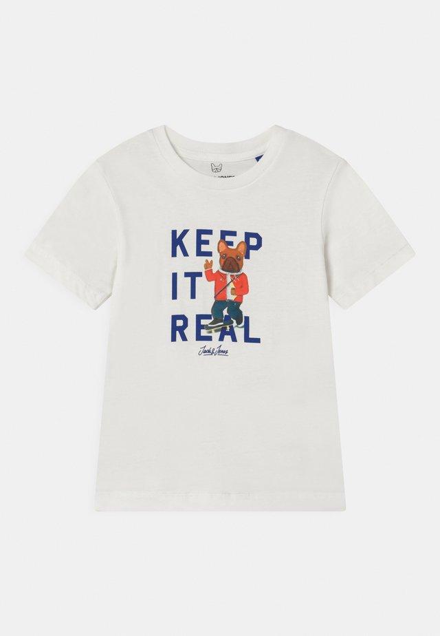 JORFRENCHIE CREW NECK - Print T-shirt - white