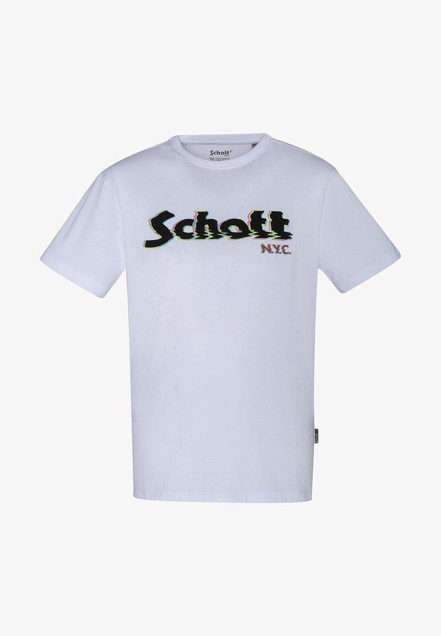 RAS DU COU AVEC LOGO IMPRIMÉ - Print T-shirt - blanc