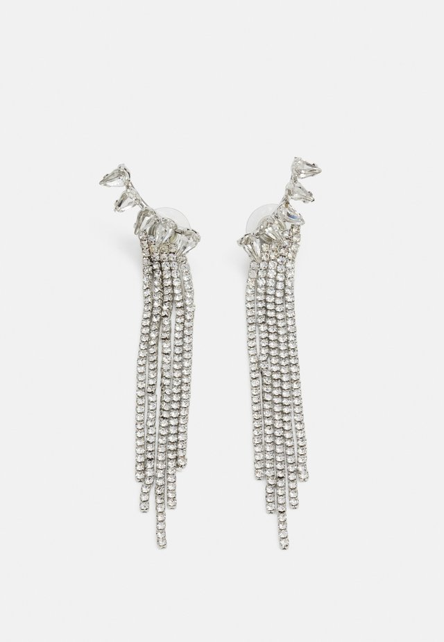 STATEMENT DROP EARRINGS - Boucles d'oreilles - silver-coloured