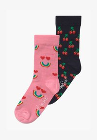 Happy Socks - KIDS CHERRY SMILING RAINBOW 2 PACK UNISEX - Socks - multi-coloured - 0