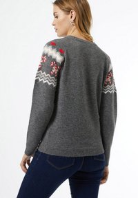 Dorothy Perkins - CHRISTMAS CANDY CANE FAIRISLE  - Jumper - grey - 1