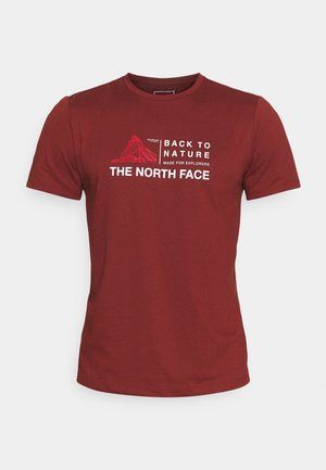 FOUNDATION GRAPHIC TEE - T-shirt print - brick house red