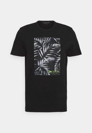 PALM BLOCK TEE - T-shirt med print - black