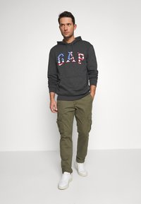 GAP - ARCH FLAG - Hoodie - charcoal heather - 1